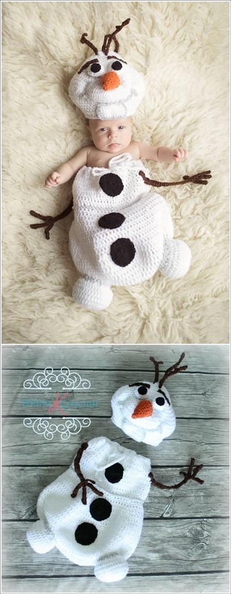 Adorables Cocoon Navidad de Crochet y Punto para Bebé