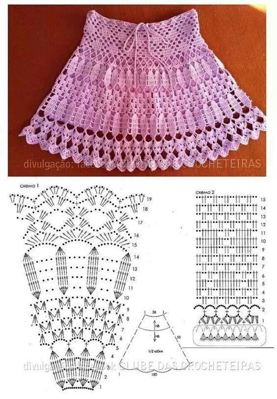 Hermosas Faldas Tejidas a Crochet