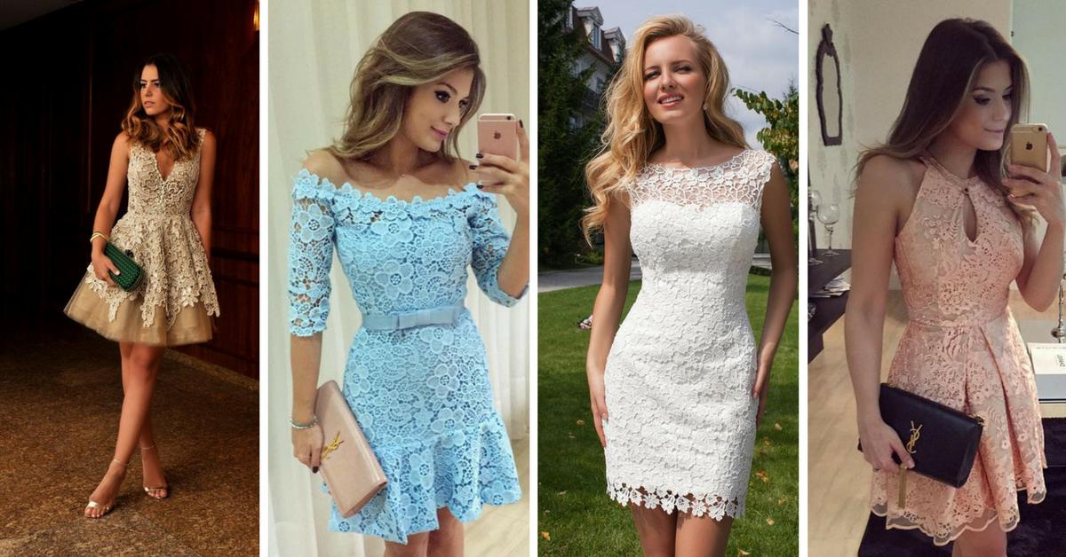 Modelos De Vestidos De Encaje Cortos